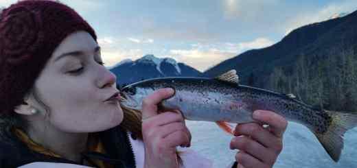 Ice fishing Whistler BC