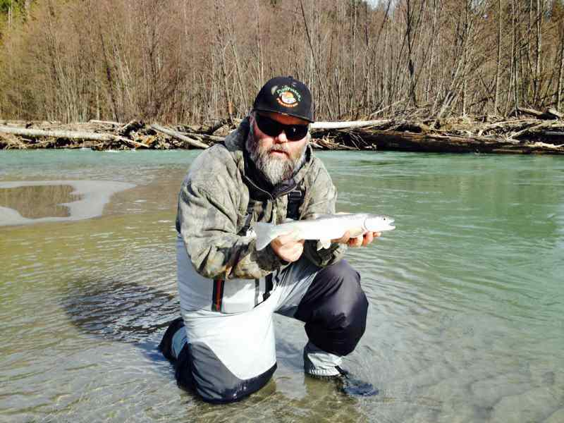 Bull Trout fly fishing in Whistler BC Canada