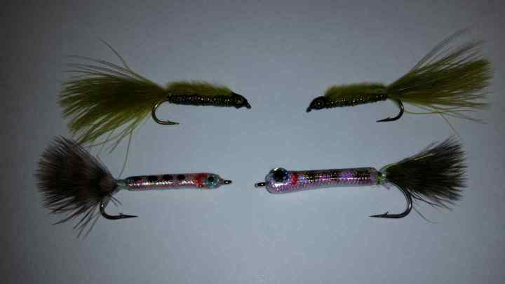 Salmon fry flies for fly fishing
