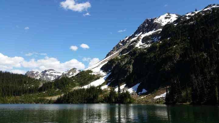 Remote alpine lake in British Columbia Canada