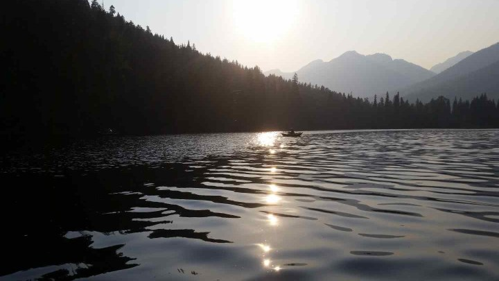 Fly fishing blackwater lake