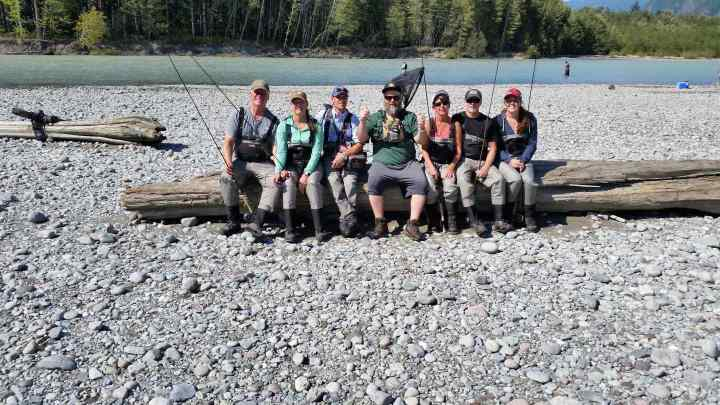 Family Salmon fishing trip in Whistler British Columbia