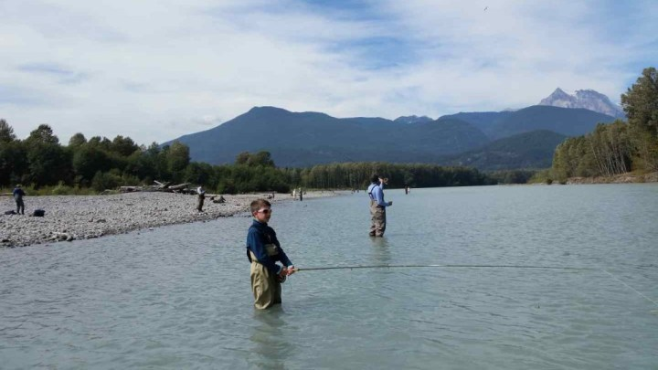 Father and son Fly Fishing trips in BC