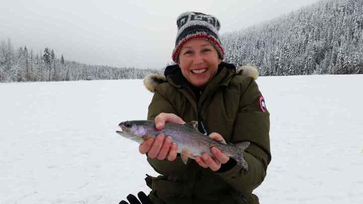 Ice fishing Whistler Canada