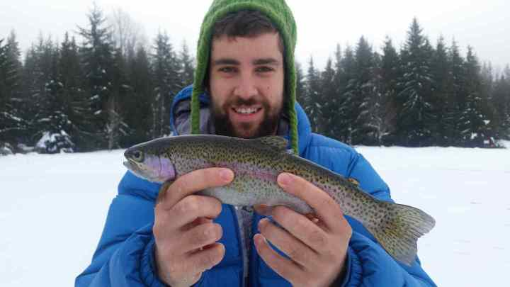 Lost lake Ice fishing Whistler BC