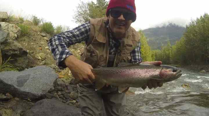 Fly fishing for Rainbow Trout in British Columbia