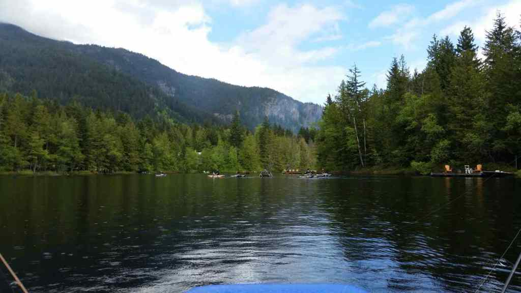 Enjoying the fishing and scenery