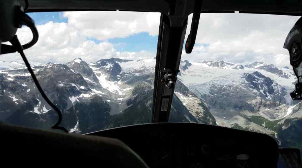 Viewing Glaciers from a helicopter