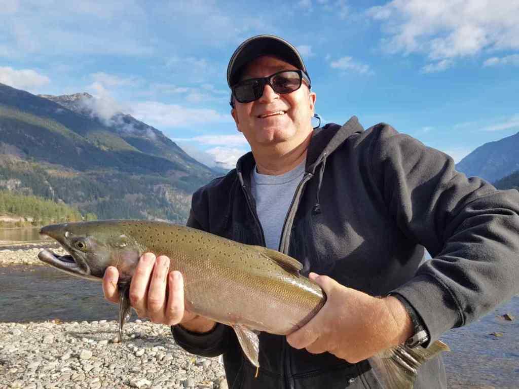 Coho Salmon fishing in British Columbia Canada