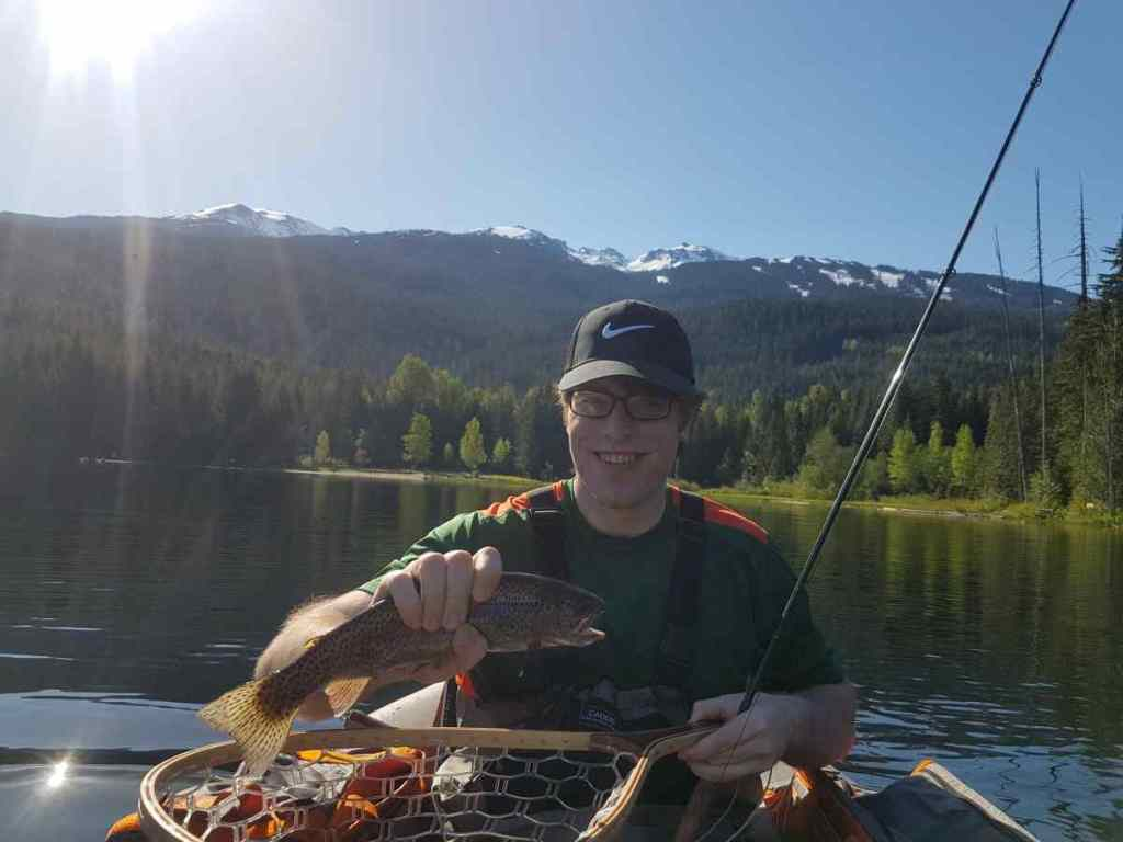 Rainbow Trout from Lost lake in Whistler BC