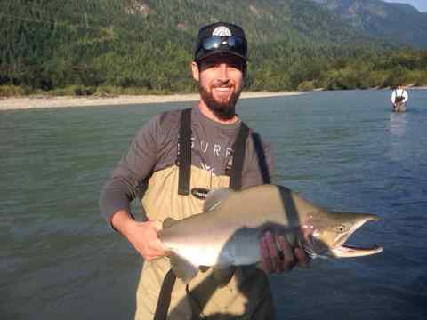 Great Pink Salmon fishing in BC