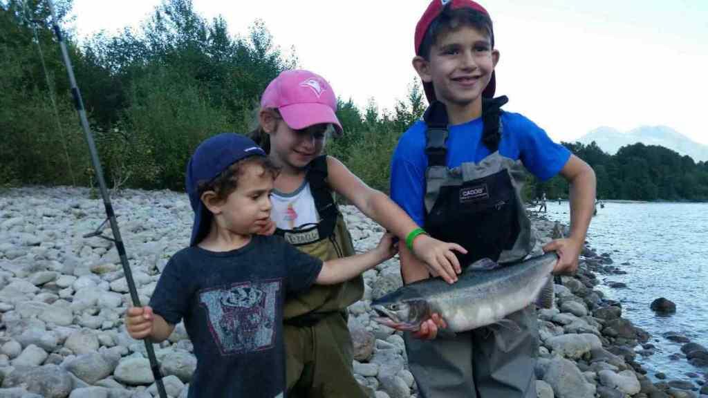 Kids fishing in Squamish BC
