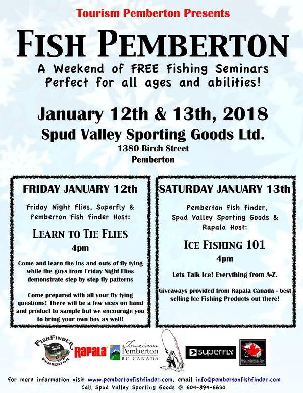 Fish Pemberton a Weekend of Free fishing seminars