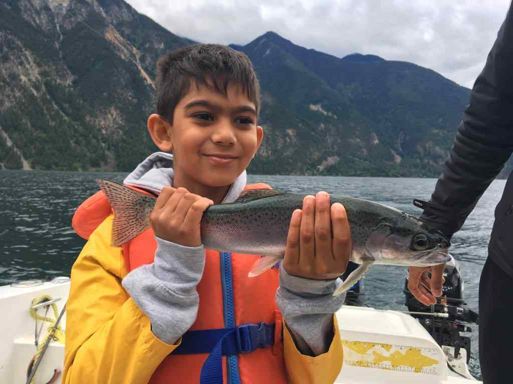 Boat fishing trips in Pemberton BC Canada