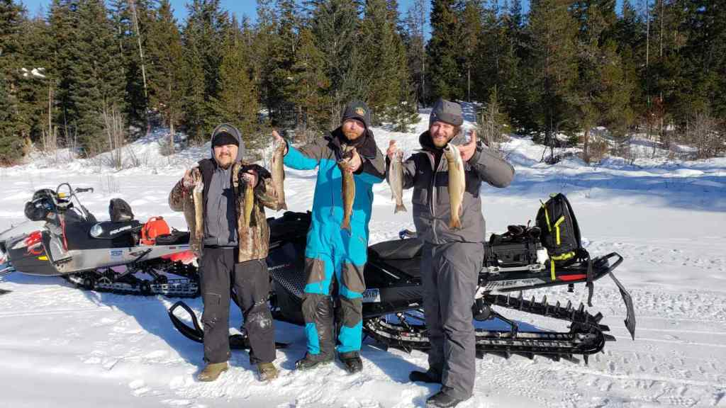 Snowmobile Ice Fishing Trips in CanadaSnowmobile Ice Fishing Trips in Canada