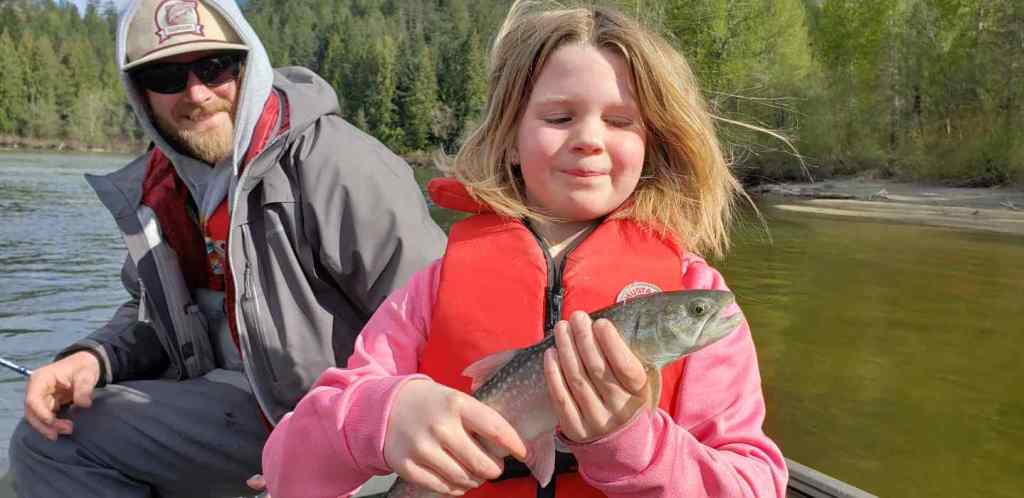Kids River fishing in BC