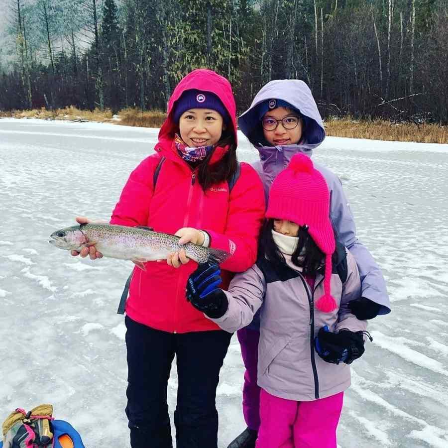 Ice fishing trips in British Columbia Canada