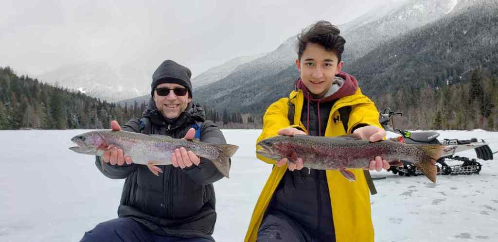 Ice Fishing Learn how to in British Columbia Canada