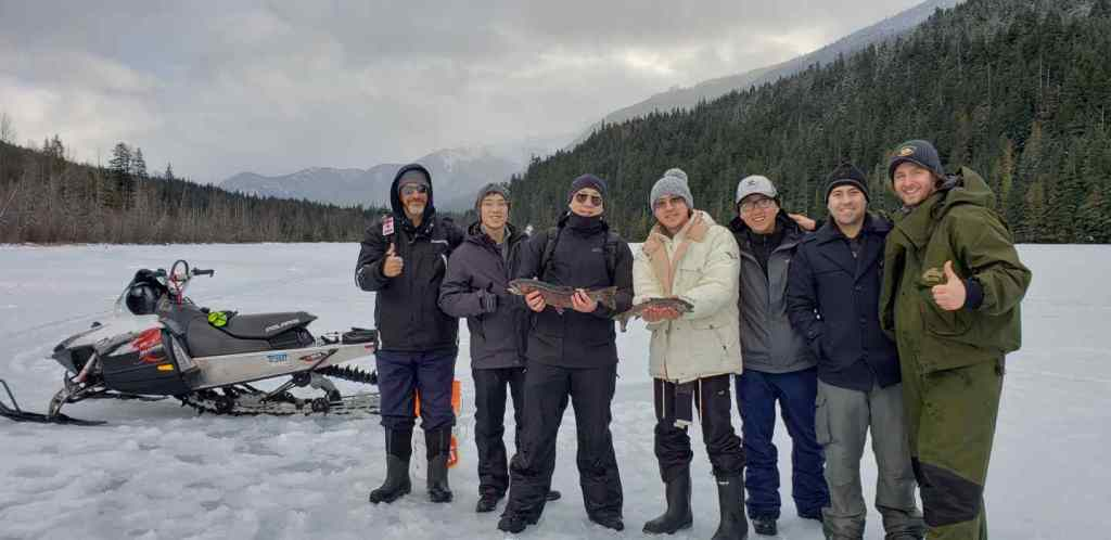 fun ice fishing groups in Whistler BC