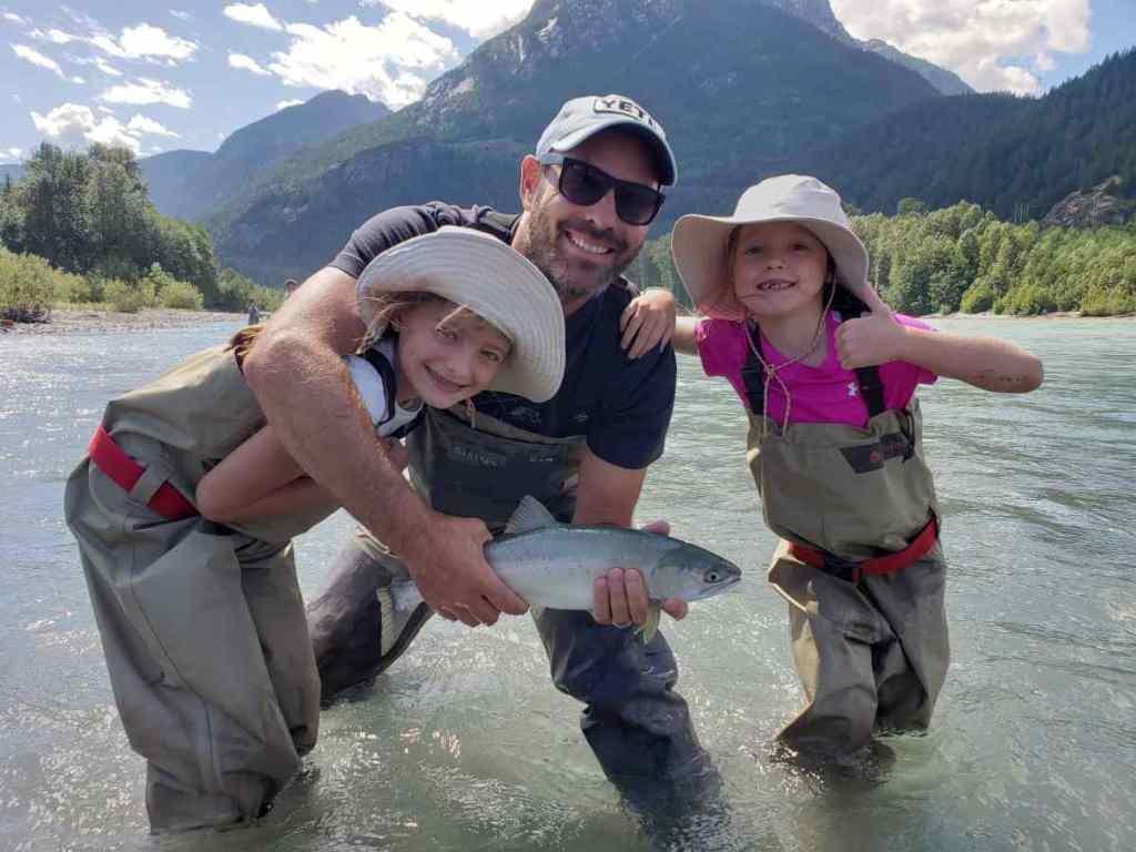 Pink Salmon fishing in Squamish BC Canada