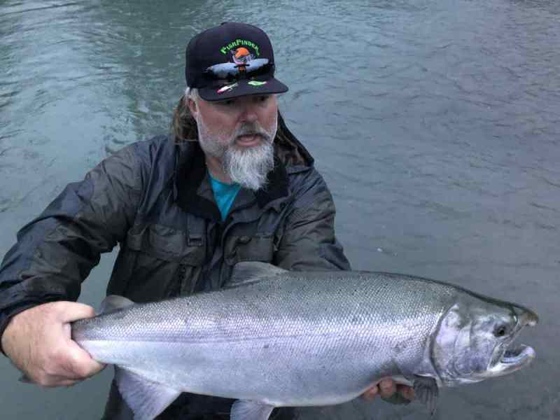Coho Salmon fishing in Squamish BC Canada