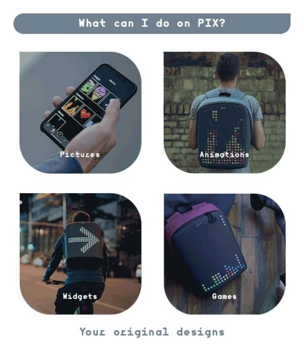PIX akıllı ve animasyonlu sırt çantası ile kendi tasarımınızı yaratın