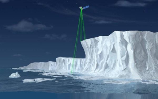 Buz izleme lazeri görevine başladı!