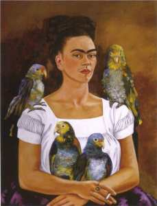 Frida _Kahlo_me-and-my-parrots