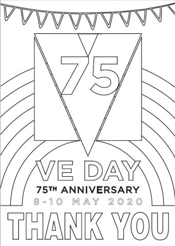 VE Day poster to colour in