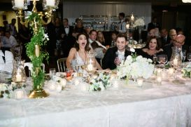 Bride's reaction to her mom's toast