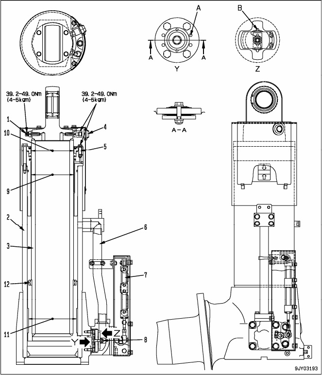 Data Komponen Suspensi Depan Dump Truck Komatsu HD 785-7