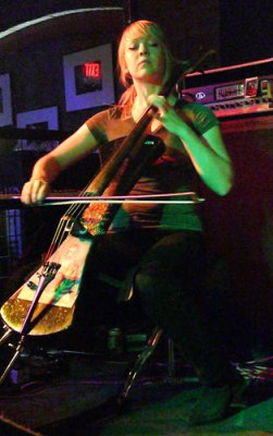 Murder by Death cellist Sarah Balliet performs May 1, 2009 in Billings.