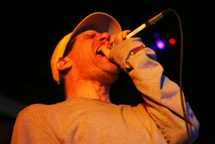 Bane vocalist Aaron Bedard performs at the Railyard in Billings July 29.