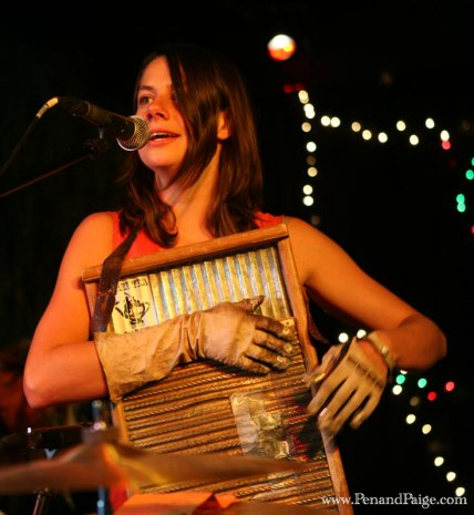 Bonnie Paine, lead vocalist and washboard player for Elephant Revival.