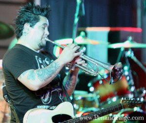 NOFX guitarist and occasional trumpeter El Hefe.