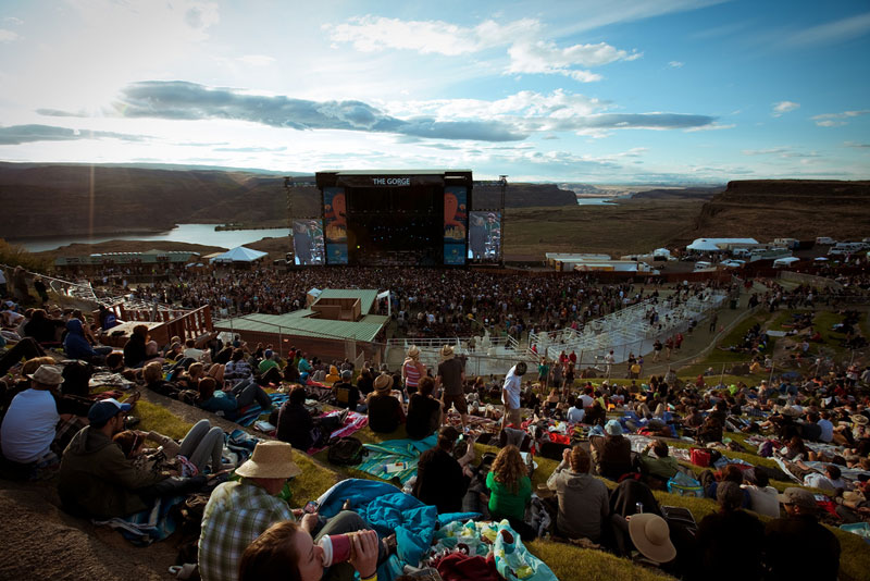 Crowds at the 2010 Sasquatch Music Festival in Washington's Gorge. (Photo by Christopher Nelson)