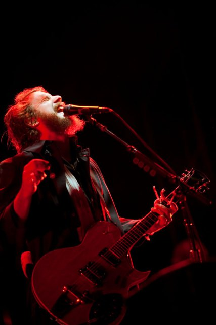 My Morning Jacket frontman Jim James in performance at the 2010 Sasquatch Music Festival at the Gorge Amphitheater in Washington (Photo by Christopher Nelson).