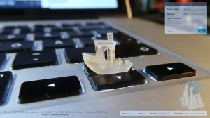 boat printed with SLA method