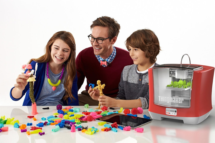 thingmaker 3D printing with children