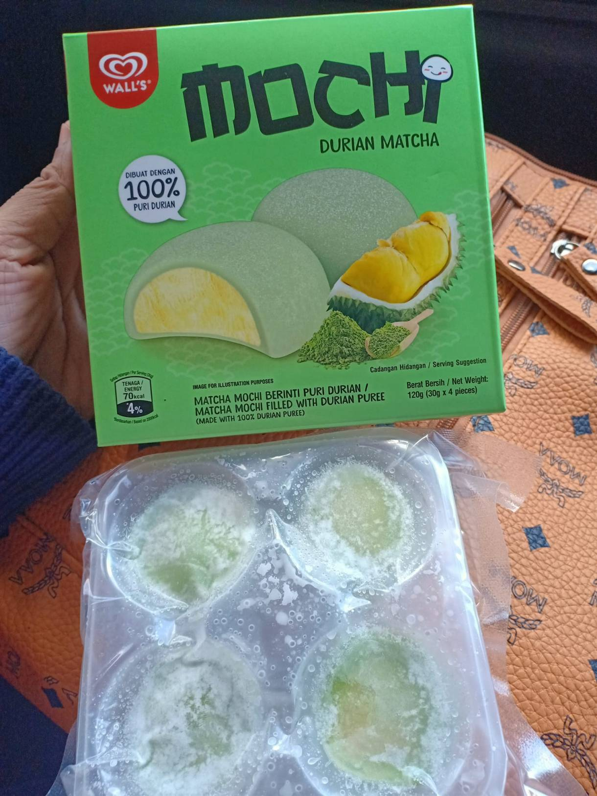 Durian Matcha, Strawberry Cheese Mochi