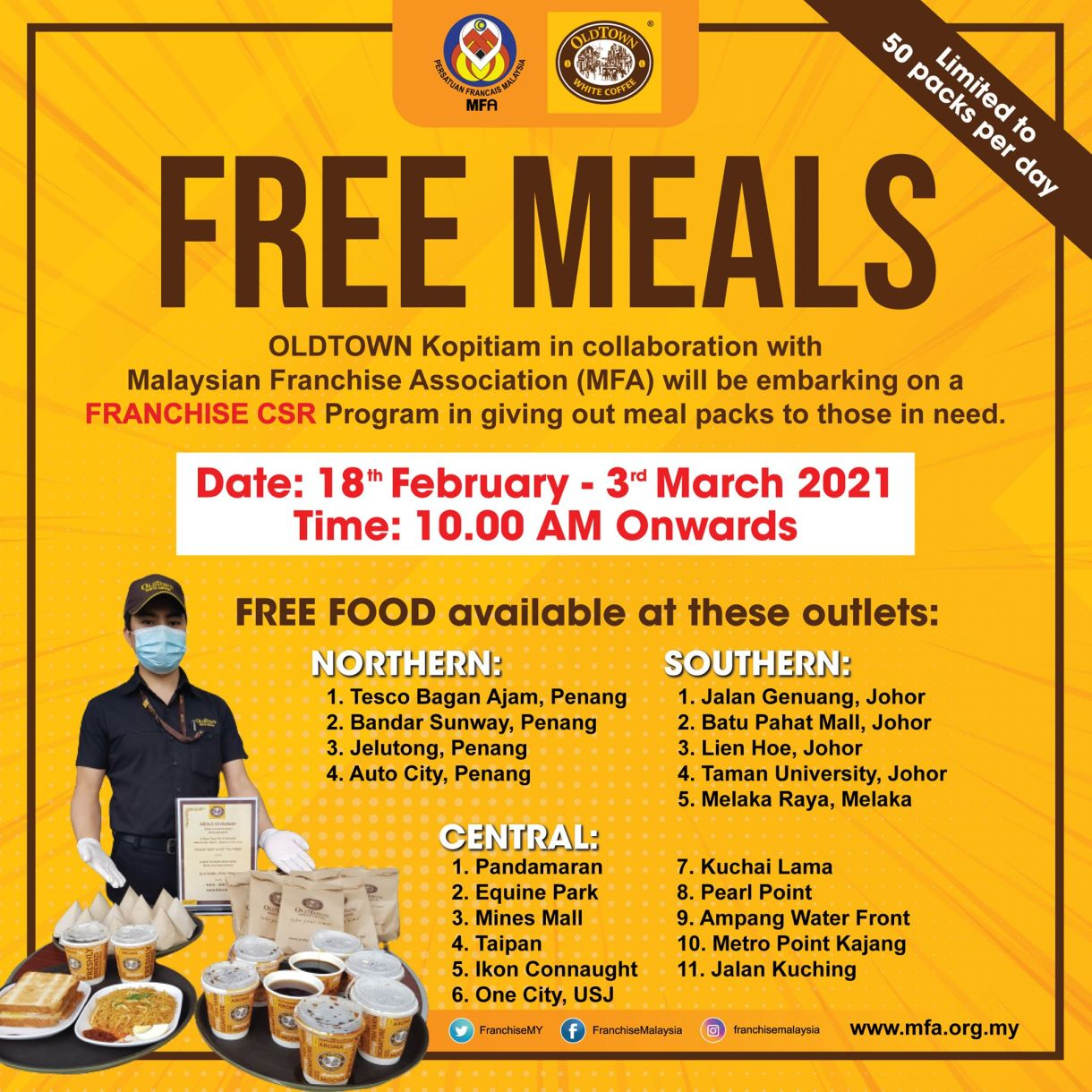 OLDTOWN White Coffee Free Meals