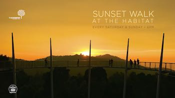 Sunset walk at The Habitat