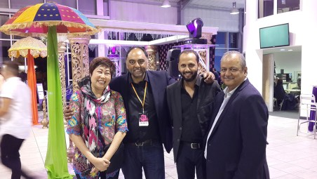 Pearly Kee with Mr Zulfi, Grand Master Chef Hemant and Chef Amir.