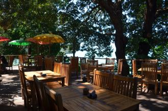 Dining on the deck at Tree Monkey