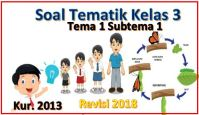 soal tematik kelas 3 tema 1 subtema 1 kurikulum 2013 revisi 2018