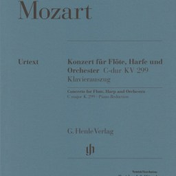 W.A.Mozart: Concerto for Flute & Harp in C major KV 299 (297c) available from Pencerdd Music Shop, Penarth