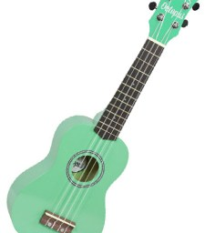 Octopus Soprano Ukulele green available at pencerdd music store penarth near cardiff