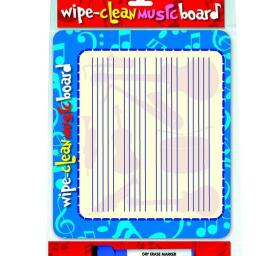 Wipe Clean Music Board landscape Edition available at Penarth Music Centre