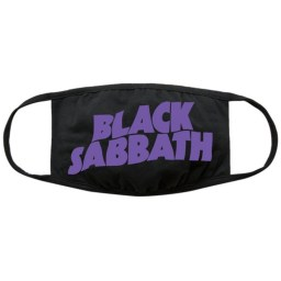 Black Sabbath Face Covering Wavy Logo available at Penarth Music Centre