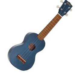 Mahalo Soprano Ukulele blue transparent available at Penarth Music Centre